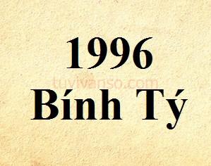 Tuổi Bính Tý sinh năm 1996 thuộc mệnh gì, tuổi gì?