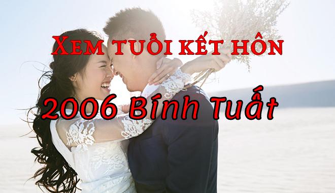 Xem tuổi kết hôn cho nam nữ sinh năm Bính Tuất 2006