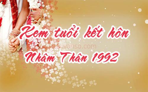 Sinh năm 1992 kết hôn tuổi nào đẹp nhất? Năm cưới tốt nhất cho nam nữ tuổi Nhâm Thân 1992